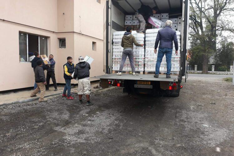 Hulpgoederen aangekomen in Roemenië 11-11-2020